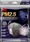 3M PM2.5空污微粒防護口罩9041V 耳掛式/活性碳/呼氣閥 2入包