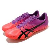 ASICS 田徑鞋 Hypersprint 7 男 紫 橘 短距離 釘鞋 附鞋釘 拔釘器【ACS】 1091A015500