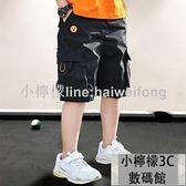 男童短褲 童裝男童短褲夏季外穿中大兒童男孩中褲工裝七分褲薄款 【小檸檬】