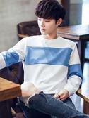 法派鷹衛衣男士長袖t恤寬鬆圓領韓版學生潮流春季打底衫男裝上衣 圖拉斯3C百貨