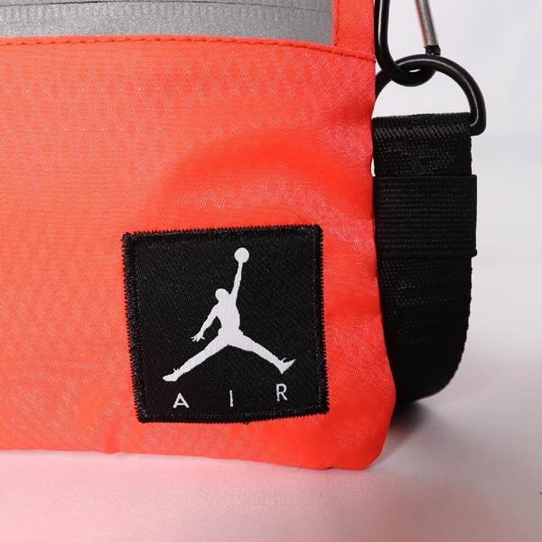 Nike 斜背包 Air Jordan Mini Shoulder Bag 橘 黑 銀 男女款 喬丹 反光 螢光色 運動休閒 【ACS】 JD2123011GS-002