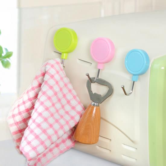 ♚MY COLOR♚超強吸力磁鐵掛勾(兩個裝) 冰箱 磁力 無痕 微波爐 烤箱 糖果色 環保 重複【Q228】