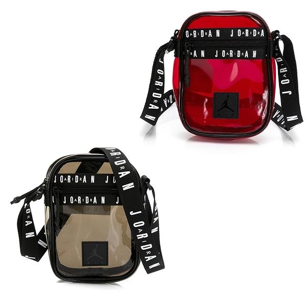 NIKE JORDAN Jelly Festival 斜背包 背包 側背 喬丹 JD2023009GS 透明紅/黑
