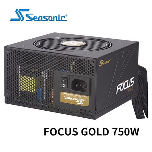 Seasonic 海韻 FOCUS 750 GOLD 模組化 80 PLUS 金牌 7年保固 電源供應器 SSR-750FM