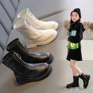 女童馬丁靴2021夏季網靴透氣公主短靴鏤空兒童靴子春秋中大童單靴 一米陽光