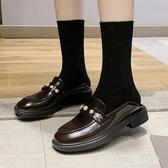 2020早春新款厚底珍珠樂福鞋女流蘇漆皮小皮鞋歐洲站布洛克牛津鞋 LF1190『黑色妹妹』