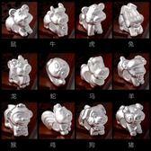 豬年本命年手鍊3D硬銀十二生肖屬豬紅瑪瑙手串男女轉運珠紅繩禮物