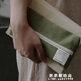 靠近我溫暖你 大容量純色棉布簡約學生女生男生筆袋日式基礎筆袋 果果輕時尚