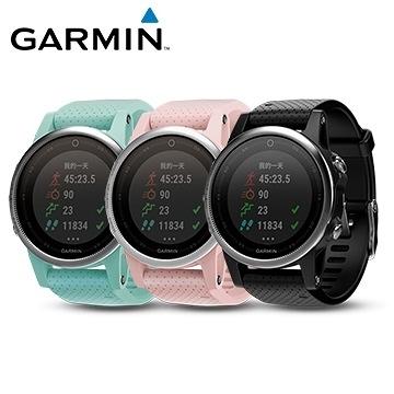 GARMIN fenix 5S 輕量美型款 GPS腕錶 黑/白/粉/藍 四色