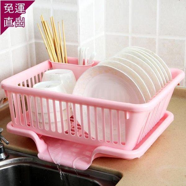廚房放碗架 塑料用品瀝水滴水碗碟架碗筷收納置物架收納盒收納籃加厚 5條原裝抹布【快速出貨】H