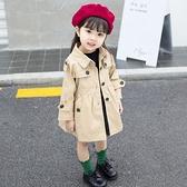女童外套2019新款秋季童裝超洋氣兒童風衣小女孩女寶潮女寶寶上衣 【七七小鋪】