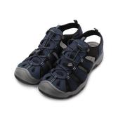 老船長 束帶護趾運動涼鞋 藍 29350 男鞋 鞋全家福