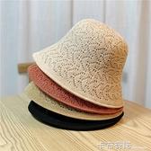 雙面漁夫帽女韓版潮百搭遮陽帽夏季薄款透氣遮臉防曬帽太陽帽子女 卡布奇诺