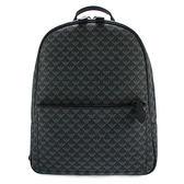 EMPORIO ARMANI 滿版LOGO紋PVC牛革後背包(黑色)102052