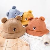 無尾熊耳朵刺繡漁夫帽 童帽 帽子 遮陽帽