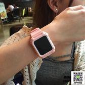 蘋果錶帶 MOMO優品適用蘋果apple watch3表帶一體保護殼iwatch2腕帶塑料 薇薇