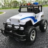 兒童電動遙控玩具汽車 超大號漂移充電越野警車吉普男孩賽車模型 英雄聯盟