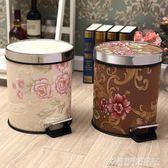 創意歐式家用垃圾筒 腳踏式客廳臥室廚房衛生間大號垃圾筒帶蓋 酷斯特數位3c igo