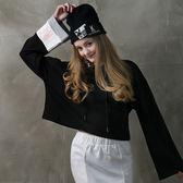 DADA SUPREME 寬袖甜美運動帽T-女-黑