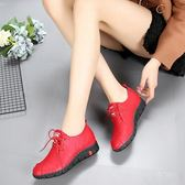 短靴  春款單鞋季英倫系帶平底皮鞋女鞋百搭短靴原宿風學生馬丁鞋女