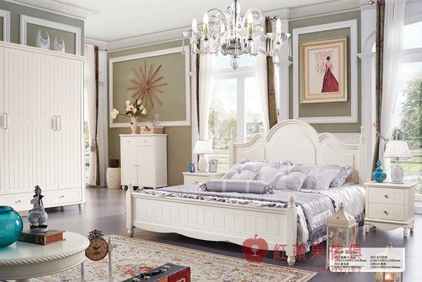 [紅蘋果傢俱] 869 簡約優雅系列 韓式 床台 5尺 6尺 床架 法式 歐式 鄉村 (另售書櫃、衣櫃、床頭櫃)