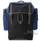 茱麗葉精品【全新現貨】BURBERRY 4077524 Ranger 三色尼龍雙口袋後背包.黑