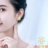耳飾小雛菊清新銀針耳環S925純銀耳釘女潮簡約小巧花朵【奇妙商鋪】