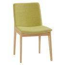 【森可家居】晶賈綠色布餐椅 7ZX885-12