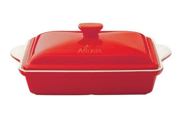 美國AROMA DoveWare 頂級手工長方烤盤 ADC-203-RED (3.0QT/2800ml)