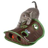 味它寵物老鼠獵人多孔老鼠洞玩具帶鈴鐺抓球逗貓益智玩具寵物用品  露露日記