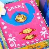 迪士尼系列金飾-史迪奇款黃金彌月禮盒三件組(0.20錢)