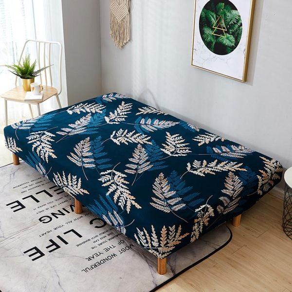 折疊無扶手沙發床套子全包彈力萬能沙發套全蓋沙發墊沙發罩沙發巾