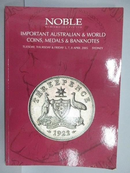 【書寶二手書T7/收藏_PMZ】Noble Numismatics Pty Ltd_Important Australi