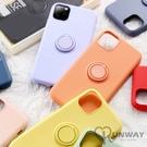 純色 液態矽膠 磁吸指環支架 防摔殼 防摔殼 iPhone 12 mini i11 Pro Max 蘋果 手機殼