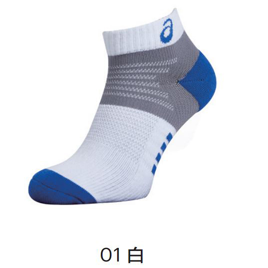 ASICS 亞瑟士 運動襪 短襪 足弓加壓 加厚球襪 台灣製 Z31902-01白 可團購 [陽光樂活](A7)
