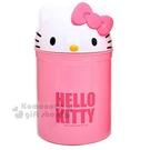 〔小禮堂〕Hello Kitty 造型蓋掀蓋垃圾桶 《L.粉.大臉》垃圾箱.置物桶 8806365-02967