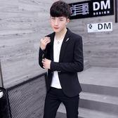 秋季新款休閒西服男士韓版修身上衣服青年帥氣潮流男裝小西裝外套
