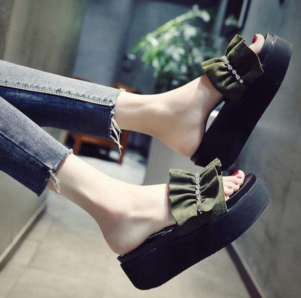 『618好康又一發』厚底拖鞋女韓版時尚荷葉鞋