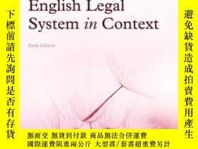 二手書博民逛書店English罕見Legal System In Context