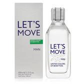 Benetton 班尼頓 Let's Move動感男性淡香水100ml【UR8D】
