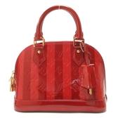 LOUIS VUITTON LV 路易威登 紅色漆皮手提肩斜背包艾瑪包 Alma BB M91593【BRAND OFF】
