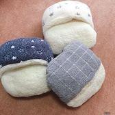 珊瑚絨暖腳寶套方格星星居家柔軟舒適均碼大人兒童都可以【街頭布衣】