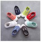兒童無鞋帶輕便帆布鞋  幼稚園室內鞋 軟...