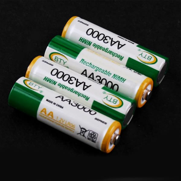 充電電池 3號電池 鎳氫電池 4顆1組賣 1.2V 3000mAh 電池(19-299)