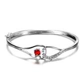 手環 925純銀水晶-精美時尚生日聖誕節交換禮物女手鍊6色73fg30【時尚巴黎】
