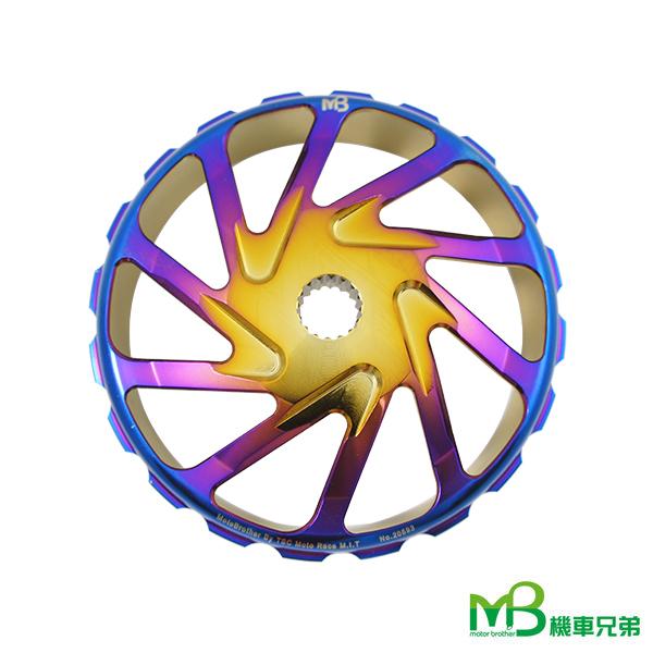 機車兄弟【MB 黑POWER 旋風鍛造鈦金碗公】(標準版)(各車系)