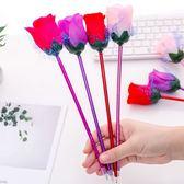 【BlueCat】仿真塑膠玫瑰花紗網原子筆 圓珠筆
