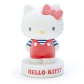 〔小禮堂〕Hello Kitty 全身造型植絨存錢筒《紅白》擺飾.撲滿.儲金筒 4901610-40321
