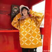 毛衣男 黃色毛衣男士冬季韓版潮衣服2018新款潮流寬鬆針織衫情侶線衣高領 米蘭街頭
