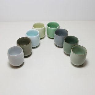 龍泉青瓷六色杯